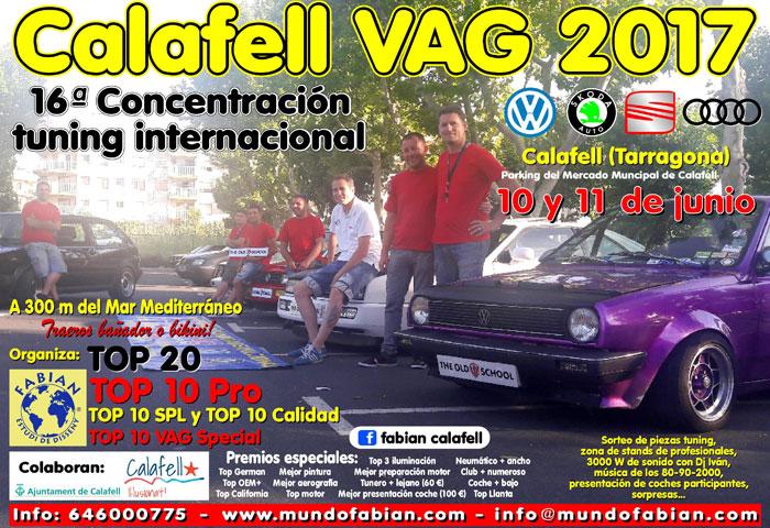 16ª CONCENTRACIÓN TUNING GRUPO VAG CALAFELL 2K17