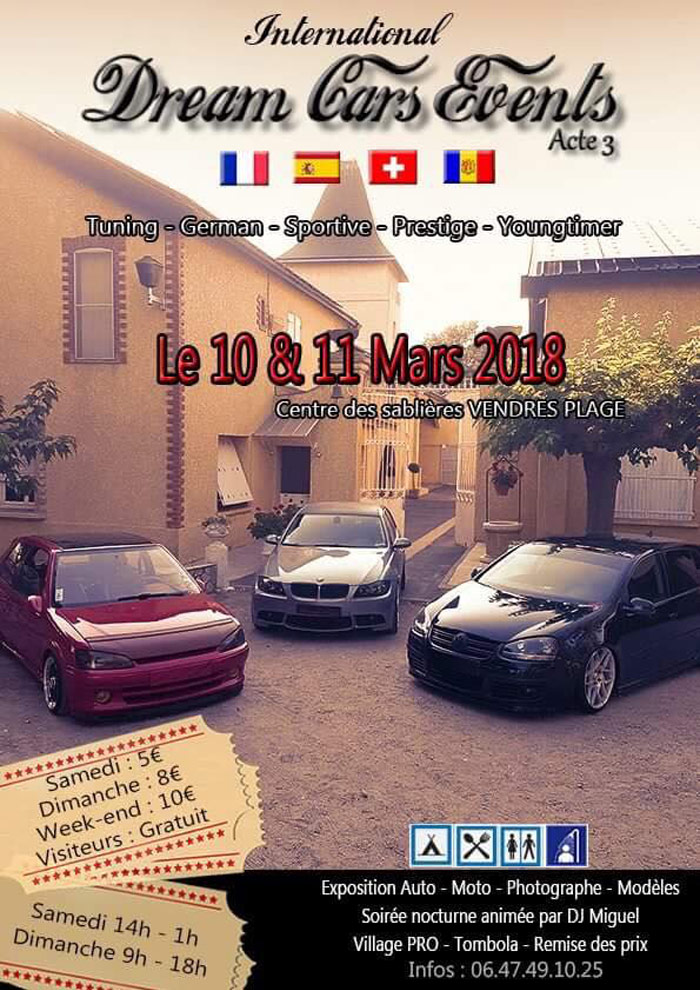 INTERNATIONAL DREAM CARS EVENTS ACT.3